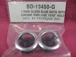 Glass Lenses & Chrome Bezels, Nostalgic Hot Rod, Street Rod, Rat Rod
