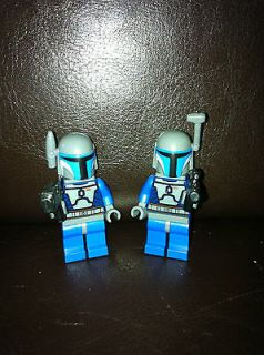 LEGO STAR WARS LOT 2 CUSTOM JANGO MANDALORIAN CLONE TROOPER