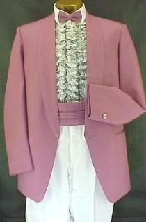 VINTAGE MIAMI VICE PINK 4pc PROM WEDDING TUXEDO 37R