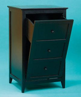 Black or Walnut Wooden Tilt Out Trash Bins/ Storage Bins