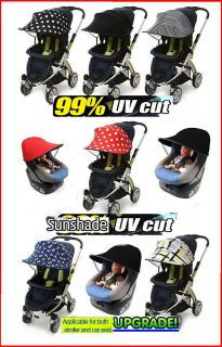 Canopy for baby stroller & Car Seat 99% UVCut Sun block Parasol