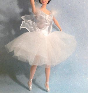 White beaded & feathered Ballet Costume SWAN QUEEN Swan Lake Ballet