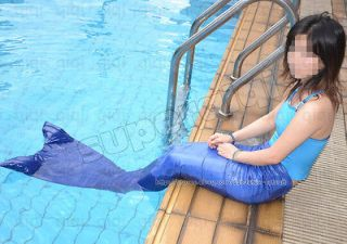 Mermaid Tail Fin Monofin Real Swimmable Costume Caribbean Cosplay lots