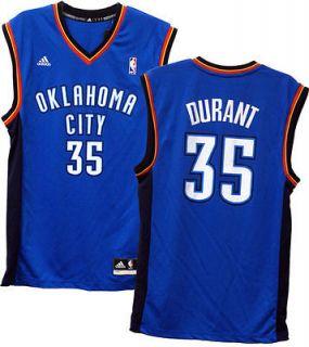 Kevin Durant Oklahoma Thunder Adidas Blue Printed Jersey