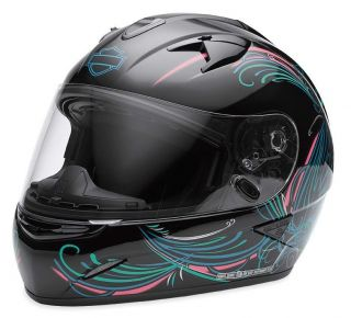 WOMENS FULL FACE HELMET WITH RETRACTABLE SUN SHIELD CAROUSEL