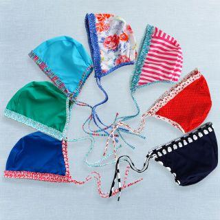 Baby Toddler Kids Girl Swimming Cap with string  Swimwear Cap
