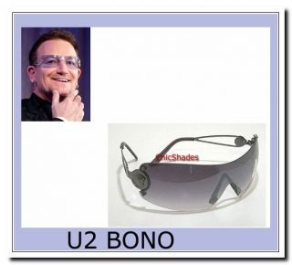 New Smoke Lenses Wrap Unisex Celebrity BONO Poly Carbon Sunglasses