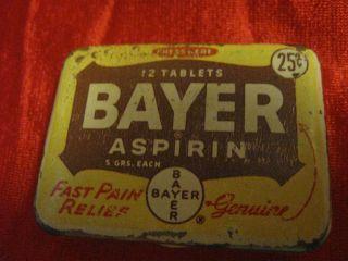 bayer aspirin tin in Merchandise & Memorabilia