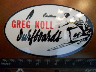 Vintage 80s, Greg Noll Surfboards surfing sticker / decal. Vinyl, 5x3