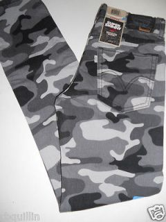 NWT 510 LEVI Low Super Skinny Stretch Slim Black Camo Denim Jeans 28 X