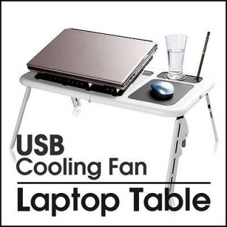 PC LAPTOP NOTEBOOK TABLE USB 2 COOLING FANS MOUSE PAD