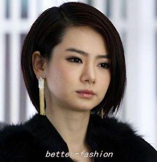 Hot Noble Fashion Swarovski Crystal 18K GP Dangle Earring 2colour U