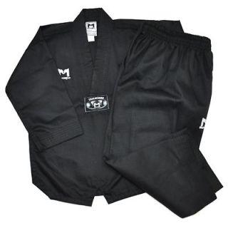 TKD TaeKwonDo uniforms uniform MASTER DOBOK BLACK+BLACK BELT Kukkiwon