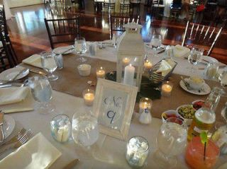 Burlap Table Runners 18 x 120 With Square Ends. Natural or Cream