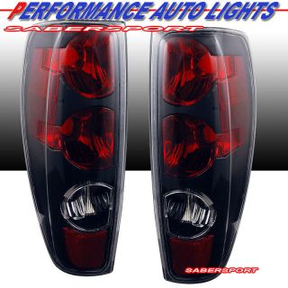 2012 CHEVY COLORADO GMC CANYON ALTEZZA STYLE TAIL LIGHTS BLACK PAIR