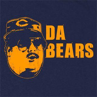 DA BEARS T SHIRT FUNNY CHICAGO SNL FOOTBALL FANTASY VINTAGE DITKA NAVY