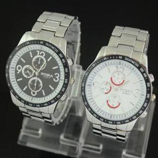 2PC Fashion Mens design and generous Unique quartz watch,B13 2