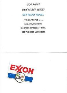 EXXON Oil Gas Company national credit Card Standard Chevron Sohio