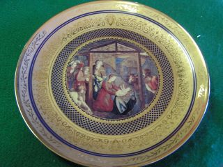 Vatican Museum Plate  Franklin Mint THE NATIVITY WITH ADORATION BY THE