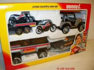 BUDDY L (CROSS COUNTRY RACE SET)MIB EARLY 1980s 100%COMP.