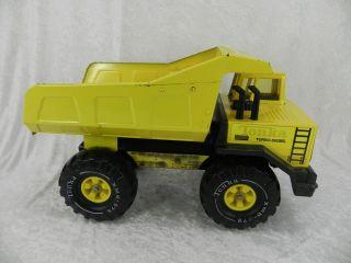 Mighty Tonka Yellow Metal Dump Truck Turbo Diesel X 975