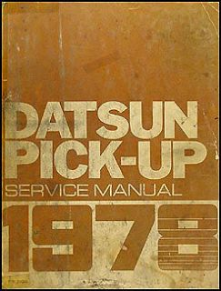 Pickup Truck Shop Manual 78 620 Original Repair Service Book OEM