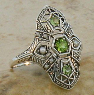 antique peridot ring in Vintage & Antique Jewelry