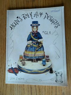 Folk Art Designs Vol.1 Acrylic Tole Painting Patterns Instruction 1983