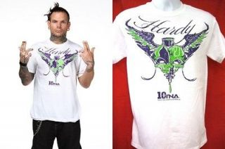 Jeff Hardy Whiteout TNA Impact Wrestling White T shirt New