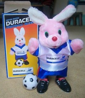 DURACELL WORLD CUP FOOTBALL BUNNY AND BOX IN IMMACULATE CONDITION