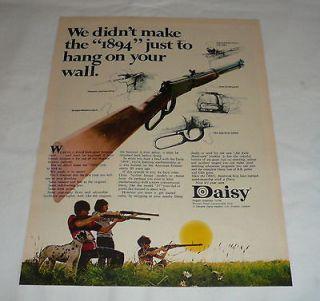 bb gun air rifle ad page ~ We Didnt Make The 1894 To Hang On Wall