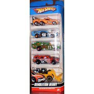 Toy Hot Wheels 5 Car Gift Pack   Demolition Derby Kids Children New