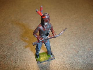 Antique Collectible Britains American Indian Lead Toy Soldier w/ Rifle