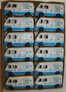 1950s Mister Softee Tin Trucks carton of 12 trucks