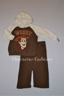 TOY STORY WOODY Boys 2T 3T 4T Shirt Pants Outfit Set Toddler Hoodie