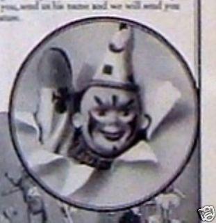1913 Ad: Schoenhut Dolls Humpty Dumpty Circus Toys Scary Evil Clown