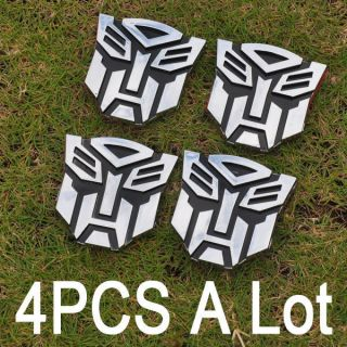 4PCS Super Transformers Autobot Car posted Badges Auto Motorcycle