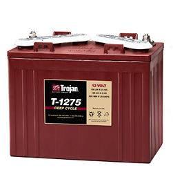 Trojan 12 Volt T 1275 Golf Cart Batteries   4 Batteries