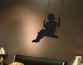 BANKSY GIRL ON SWING WALL ART STICKER DECAL DESIGN FOR HOME BEDROOM