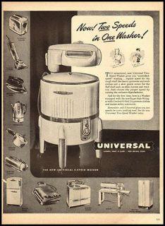 1940 vintage ad for Universal Wringer Washing Machine 1553