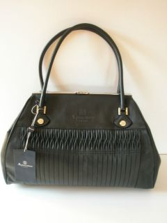 Black Ladies SOFIA Large Leather Handbag Travel Holdall Bag