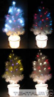 TEKTRUM 32 WHITE FIBER OPTIC LIGHT/LED TWIG TREE  XMAS