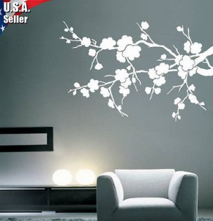 Cherry Blossom Flowers Branch Wall Decor Art Vinyl Mural Decal Sticker