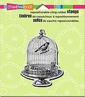 Cling Rubber Stamps VINTAGE VICTORIAN BIRD CAGE See Project Ideas