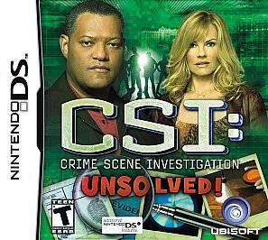 CSI Crime Scene Investigation    Unsolved Nintendo DS, 2010