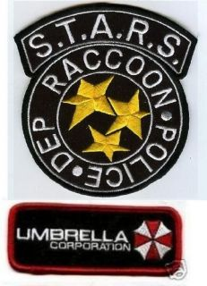 HALLOWEEN COSTUME PATCH Resident Evil STARS UMBRELLA CORP ID TAG c
