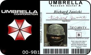 Umbrella Corp. Security ID Card Resident Evil Custom