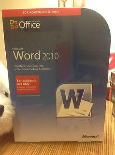 Microsoft Word 2010 Full Version AE   Complete Edition Retail Box