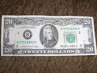 VINTAGE SMALL FACE 20 DOLLAR BILL FEDERAL NOTE ANDREW JACKSON U.S
