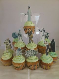 Star Wars Classic **FAB** Edible WAFER Cupcake Toppers **STAND UPS